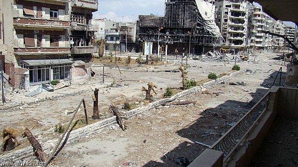 Une image d'al Rastan après les combats (Mai 2012)
